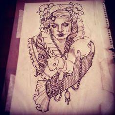 Tattoo Artist Emily Rose Murray from Australia