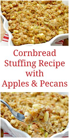 Cornbread Stuffing with Apples and Sausage Recipe : Patrick and Gina ...
