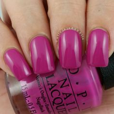 OPI The Berry Thought Of You swatched by Olivia Jade Nails