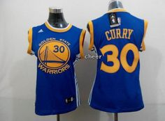Golden State Warriors 30 curry blue jersey