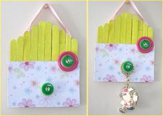 {Reader Tutorial} Craft your own Key Holder - And Sew We Craft Craft Tutorials, Diy Tutorial, Garland, Triangle, Diy Crafts, Key, Crafty, Beads, Creative