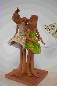 www.maznel.com GALERIE SWANNE SWANNE2.html Ceramic Figures, Princess Zelda, Disney Princess, Paper Cutting, Tinkerbell, Disney Characters, Fictional Characters, Art Deco, Miniatures