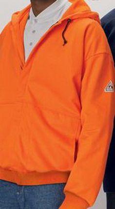 Opentip.com: Custom Bulwark Men's Zip-Front Hooded Fleece Sweatshirt