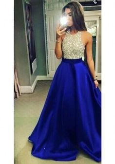 Halter beading sleeveless bodice satin pocket beall gown prom dress,evening dresses from SheDress Halter perles corsage sans manches robe de bal robe de bal robe de bal, robe de soirée Royal Blue Prom Dresses, Backless Prom Dresses, Ball Gowns Prom, Prom Party Dresses, Dance Dresses, Dress Party, Wedding Gowns, Pageant Dresses For Teens, Homecoming Dresses Long