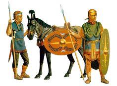Auxiliary cavalry & Auxiliary infantryman, mid- 1st century AD