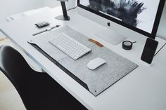 Minimalistic desk mat made from durable premium felt. Perfect for those who want to add a softer touch to their desk. Features two pockets for storing papers and notes. Work perfectly with any mouse. Office Chair Mat, Desk Mat, Home Office Chairs, Office Workspace, Minimalist Architecture, Architecture Office, Wooden Chair Plans, Wooden Chairs, Dining Chairs