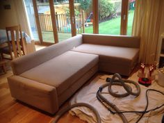 Sofa prior to cleaning