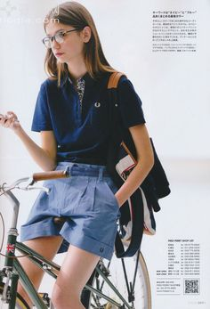 Fred Perry & Burberry blue lable 2014 S/S , Fudge issue Tomboy Fashion, Love Fashion, Girl Fashion, Winter Fashion, Vintage Fashion, Womens Fashion, Fashion Design, Fred Perry, Chica Cool