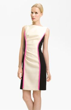 Milly 'Tabitha' Colorblock Dress available at #Nordstrom    I think I can make this, with any color other than pink trim.