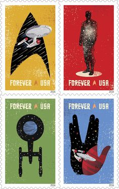 StarTrek: New 'Star Trek' Stamps Debut For The Show's 50th Anniversary