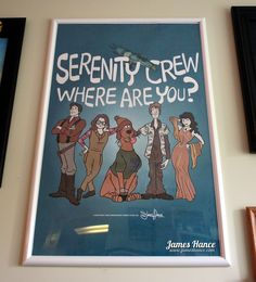 """""""Serenity Crew, Where Are You?"""" - Firefly / Scooby-Doo mashup by James Hance"""