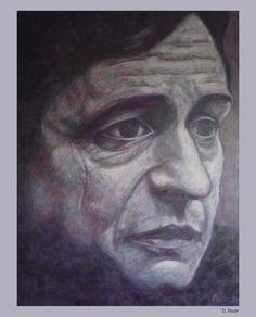 https://flic.kr/p/cCWD2m   D. Pauer. Painting. Johnny Cash.   D. Pauer. Painter. Germany. siebenspiegel agency.