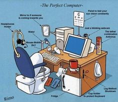 The perfect Computer table ( For more funny images, visit www.FunnyNeel.com ). Follow us www.pinterest.com/webneel/funny-neel-com