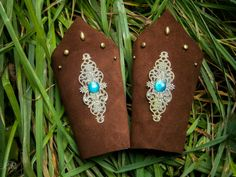 Leather Bracers  ArmguardSuede Leather Bracers  by ElvenAdornments, $32.00
