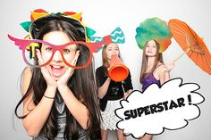 Funky Summer Party Prop! Photo Booth, Clip Art, Sunglasses Vector, Illustration, Mustache, Superstar Disco, Afro, Bow Tie [Instant Download]