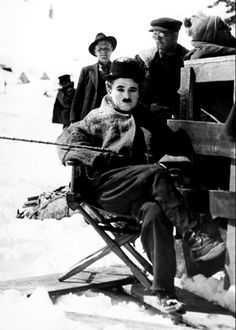 Charlie Chaplin on the set of 'The Gold Rush', 1925.