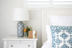 Indulgent Relaxation & Sleep Kit displayed in a beautiful hamptons home with natural whites and blues.