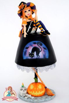 Halloween Lamp Cake - Tickle My Bones Collaboration - Cake by SweetLin