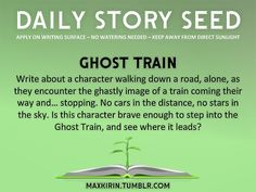 Write about a character walking down a road, alone, as they encounter the ghostly image of a train coming their way and... stopping. No cars in the distance, no stars in the sky. Is this character brave enough to step into the Ghost Train and see where it leads?