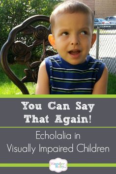 If your blind child is constantly repeating everything you say or seems to get… Teaching Activities, Toddler Activities, Auditory Processing Disorder, Social Anxiety Disorder, Developmental Disabilities, Coping With Stress, Say That Again, Kids And Parenting, Parenting Tips