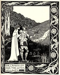 Sir Launcelot and the Witch Hellawes - Aubrey Beardsley