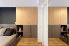 Gracias al ángulo de los espejos, se aumenta el tamaño de los dormitorios…