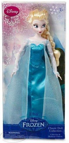 Disney FROZEN Elsa Beautiful Poseable Classic Doll Blue Gown Snow Queen NIB NEW