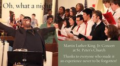 Tyrone and our Gospel Choir at St Peter's Church, MLK Day