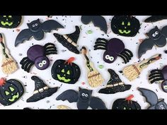 Halloween is just around the corner! In this video I'm going to show you how I make five different Halloween Cookies! Here's how to make your own - Re. Icing Recipe, Sugar Cookies Recipe, Cookie Recipes, Make Your Own, Make It Yourself, Witch Broom, Halloween Cookies, Royal Icing, Witches