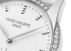 With its white dial, white diamonds, and white alligator leather strap, this Patek Philippe watch can be worn with nearly every outfit. Patek Philippe Aquanaut, Antiques Roadshow, Rolex Watches, Lady, White Diamonds, Leather, Accessories, Dress Watches