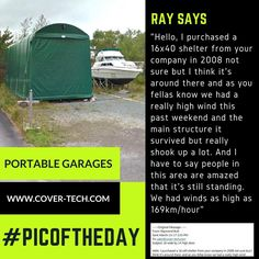 Cover Tech Portable Garages And Portable Shelters Are Built To Last.  Hundreds Of Custom Sizes Available. Store Your Car, Truck, RV, Boat, And  Much U2026