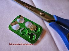 My World in Miniature how to make mini muffin tins from blister packaging the pills have to be very small for the tins to be to scale