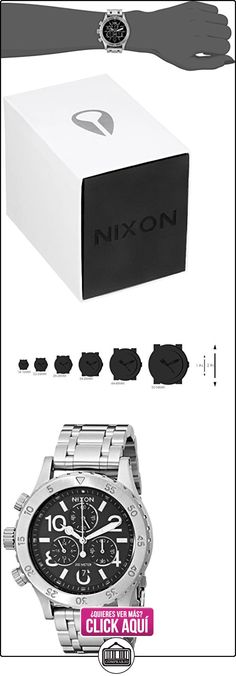 Nixon A404000-00 - Reloj de pulsera hombre, Acero inoxidable, color Plateado  ✿ Relojes para hombre - (Gama media/alta) ✿ ▬► Ver oferta: http://comprar.io/goto/B00M2DBCNC