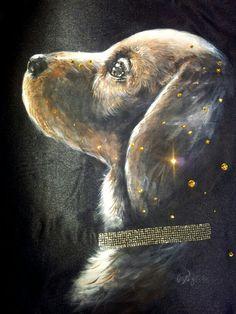 Cuscino d'arredo #Cuscino #pillow #Cane #cucciolo #dipintosustoffa #painting