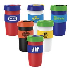 NEW!! 16 oz Barista Cup with Nearly 2,000 Color Combinations. These useful and colorful cups are perfect for hotels, Inns, Resorts, B&B... who want to be remembered by their guests.