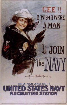 Wow. Sounds like what women are saying today (minus the navy part).
