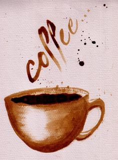 Coffee by ~CharlieRenwick  Coffee on watercolour paper!