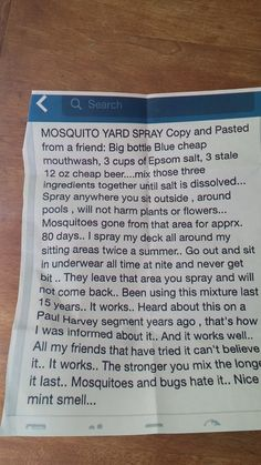 Natural And Economical Way To Rid Your Yard Of Pesky Mosquitos! Safe For Kids, Pets, And Plants! Natural And Economical Way To Rid Your Yard Of Pesky Mosquitos! Safe For Kids, Pets, And Plants!It's that Easy! Do It Yourself Camper, Do It Yourself Home, Mosquito Yard Spray, Homemade Mosquito Spray, Diy Mosquito Repellent, Pest Spray, Mosquito Cream, Natural Mosquito Repellant, Diy Mosquito Trap