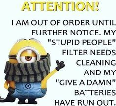 My Stupid People Filter Needs Cleaning funny quotes quote crazy funny quote funny quotes funny sayings humor minion minions minion quotes Minion Humour, Funny Minion Memes, Minions Quotes, Funny Jokes, Funny Sayings, Spongebob Memes, Citation Minion, Haha Funny, Hilarious