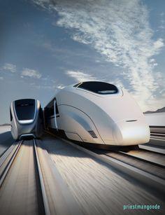 Priestmangoode exterior high speed train white moving platforms white silver led strip