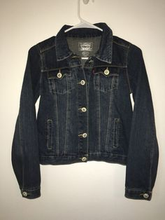 Girls LEVI STRAUSS & CO Blue Jean Denim Jacket Coat Large 12-14 Cotton Kids #Levis #JeanJacket