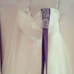 This belt is so pretty! Might be fun to switch your belt to a purple belt for the reception. @Karen Van Horn
