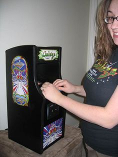 Mini Galaga Arcade Machine | Melarky Mini Arcade Machine, Arcade Game Machines, Arcade Games, Vintage Video Games, Retro Video Games, Retro Games, Retro Arcade, Electronics Projects, Pinball