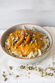 pasta with perfect pumpkin sauce