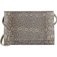 Stalvey Women's Lizard Dlorah Clutch ($2,850) ❤ liked on Polyvore featuring bags, handbags, clutches, nude, lizard handbag, strap purse, brown purse, nude purses and nude clutches