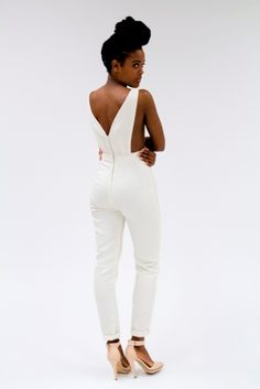 L.O.R - Ivory Bliss Jumpsuit