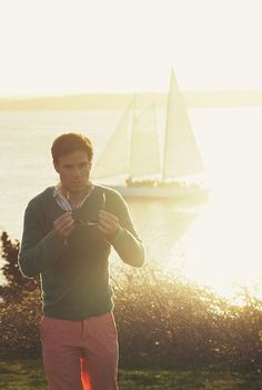 Anchored In New England — kieljamespatrick: Sunset Sail Preppy Boys, Preppy Style, Ray Ban Sunglasses Sale, New England Style, Ray Ban Wayfarer, Men's Grooming, Stylish Men, Well Dressed, Mens Suits