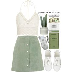 ~ embrace the mystery ~ 03 by tamara-xox on Polyvore featuring Topshop, River Island, Hansel from Basel, ASOS, Aesop, Beats by Dr. Dre, Stila, simple, GREEN and lace