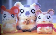 Hamster Amigurumi - Free Japanese Chart