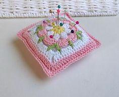 Transcendent Crochet a Solid Granny Square Ideas. Inconceivable Crochet a Solid Granny Square Ideas. Crochet Puff Flower, Crochet Flower Patterns, Baby Knitting Patterns, Crochet Designs, Crochet Flowers, Granny Square Crochet Pattern, Crochet Squares, Crochet Motif, Crochet Pincushion